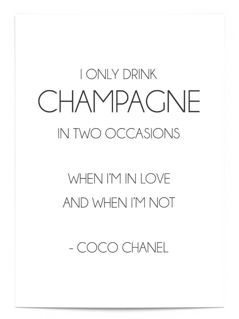 I only drink champagne 1