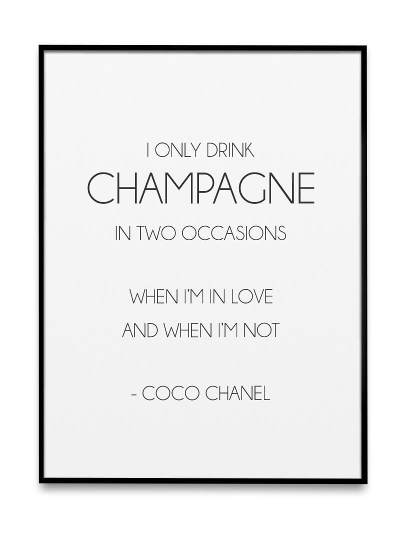 I only drink champagne 3
